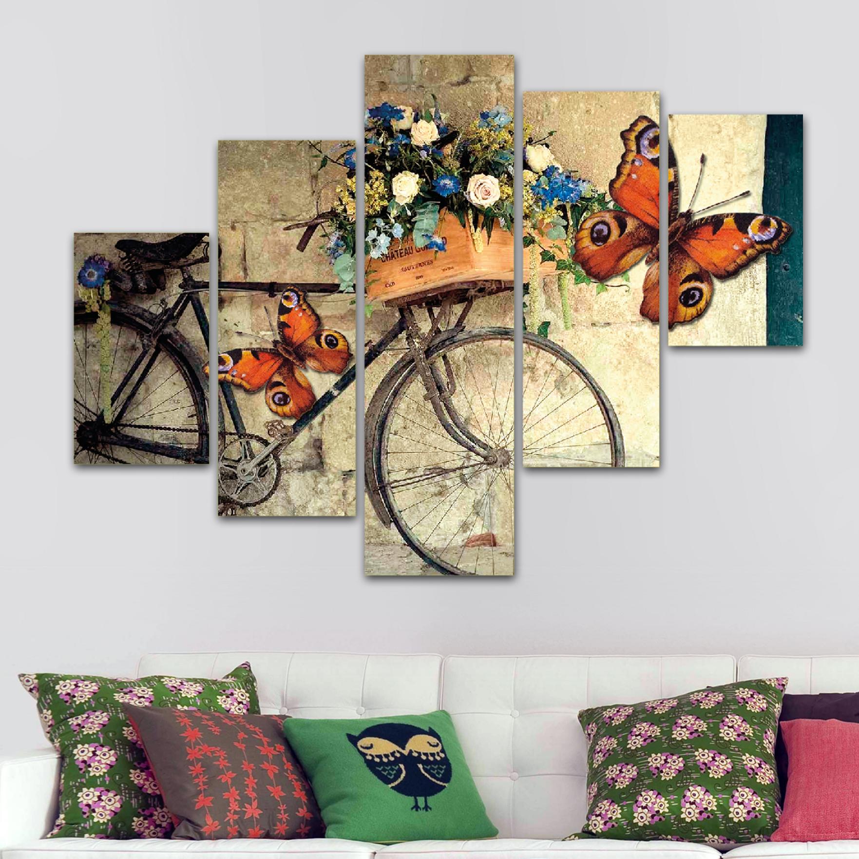 Bicicleta vintage 110 cm x 70 cm cuadros decorativos for Imagenes de cuadros abstractos rusticos