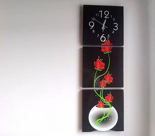 Fuente flores rojas 30cm x 1m cuadros decorativos for Donde puedo comprar cuadros decorativos