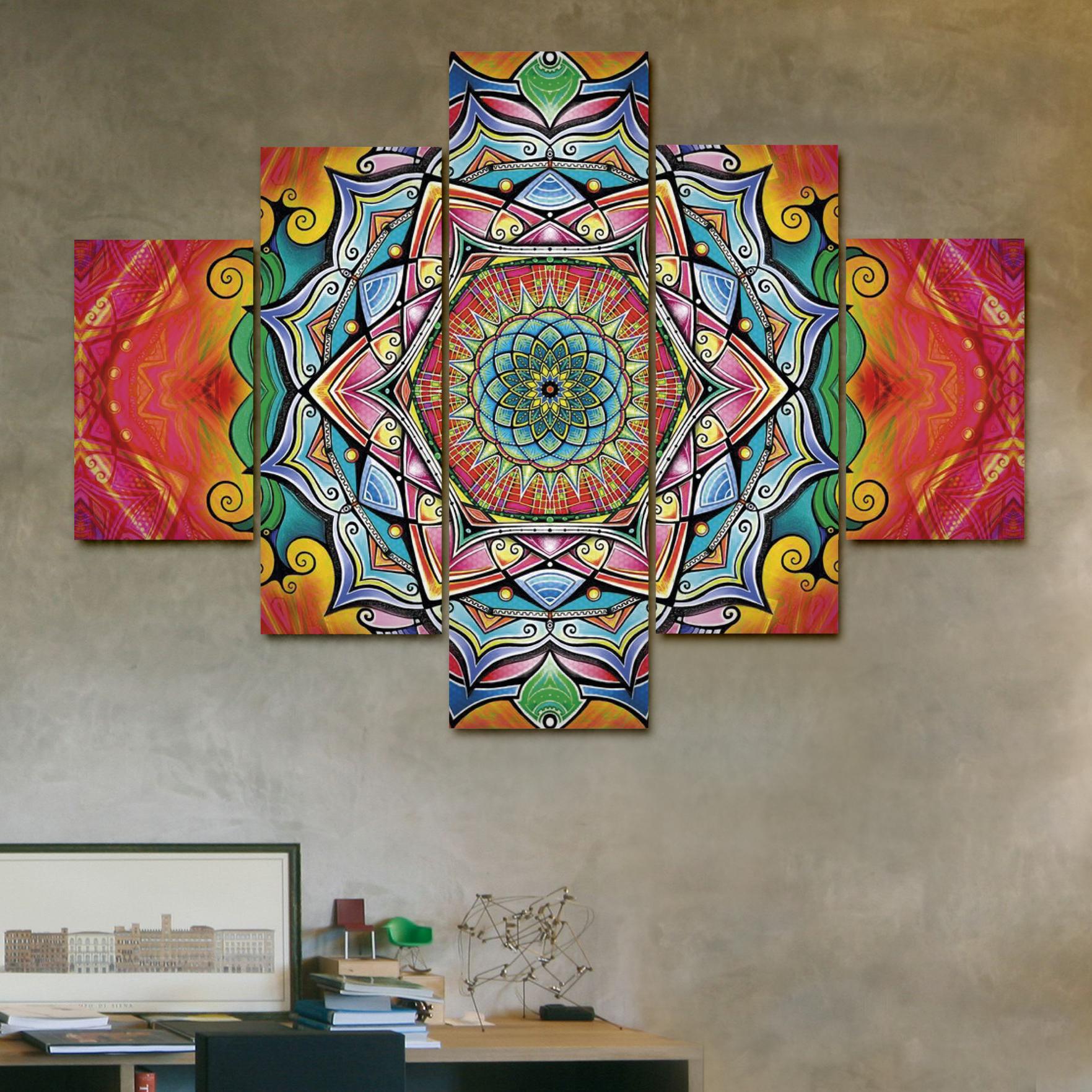 Mandala solar 110cm x 70 cm cuadros decorativos for Donde puedo comprar cuadros decorativos