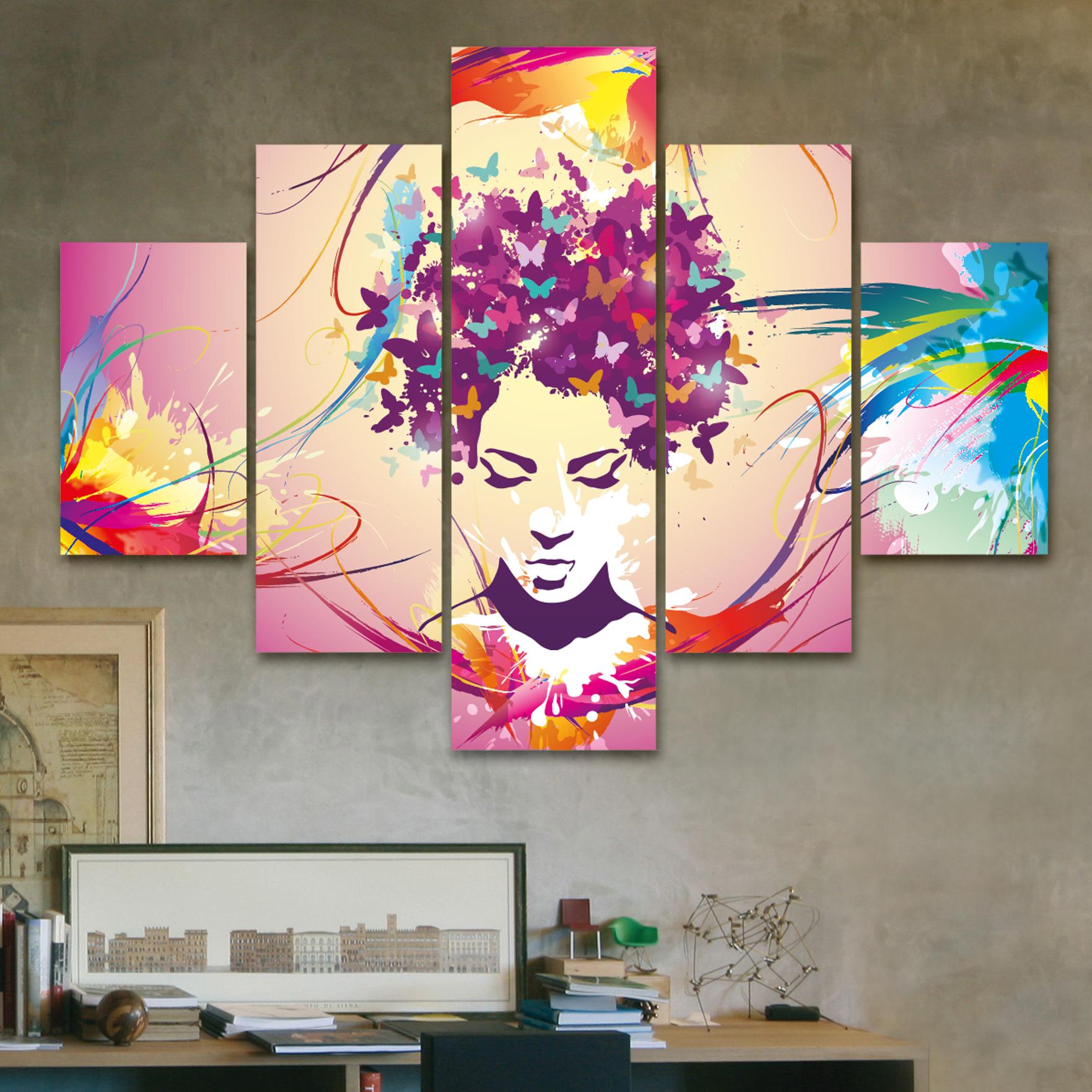 Mariposas en la cabeza 110 cm x 70 cm cuadros decorativos for Donde puedo comprar cuadros decorativos