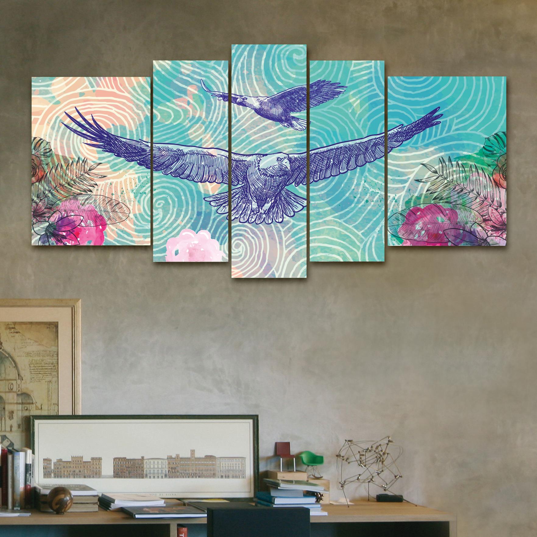 Guila azul 150 cm x 70 cm cuadros decorativos for Donde puedo comprar cuadros decorativos