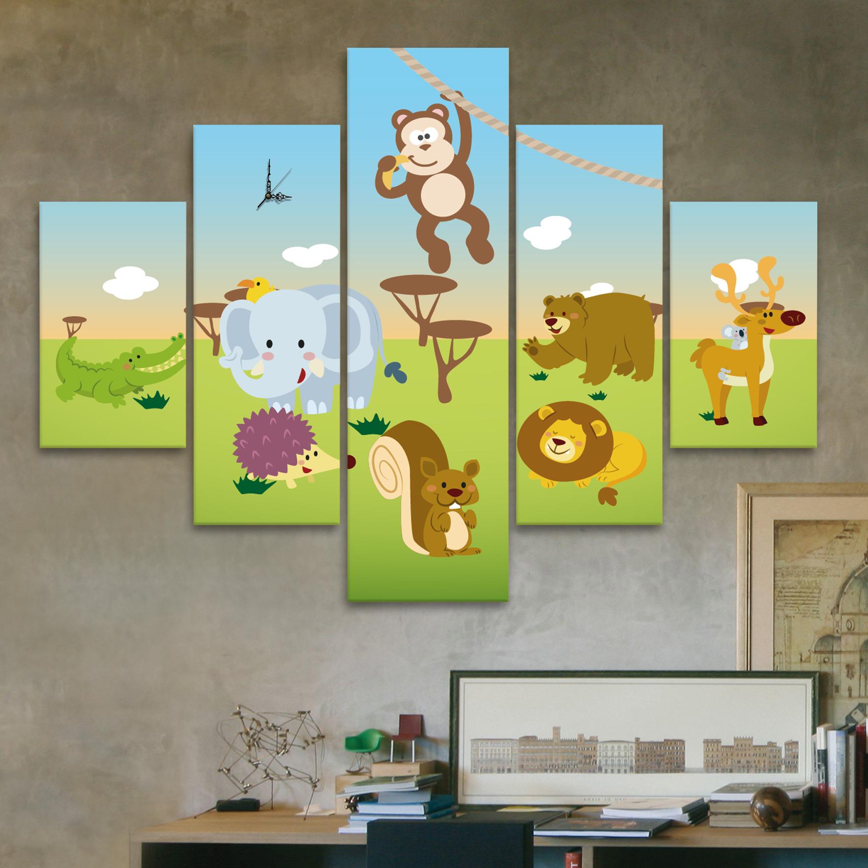 Animalitos 110 cm x 70 cm cuadros decorativos for Donde puedo comprar cuadros decorativos