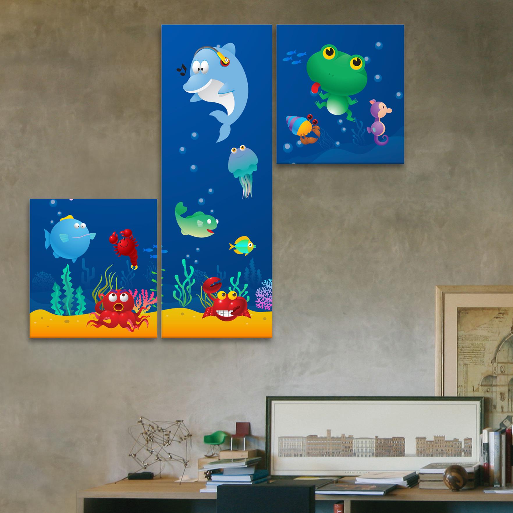 Pecera 85 cm x 70 cm cuadros decorativos for Donde puedo comprar cuadros decorativos