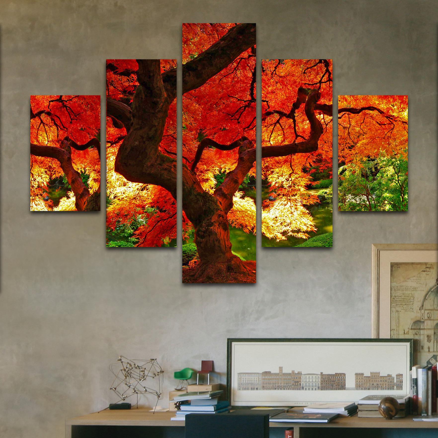 Bosque ardiente 110 cm x 70 cm cuadros decorativos for Donde puedo comprar cuadros decorativos