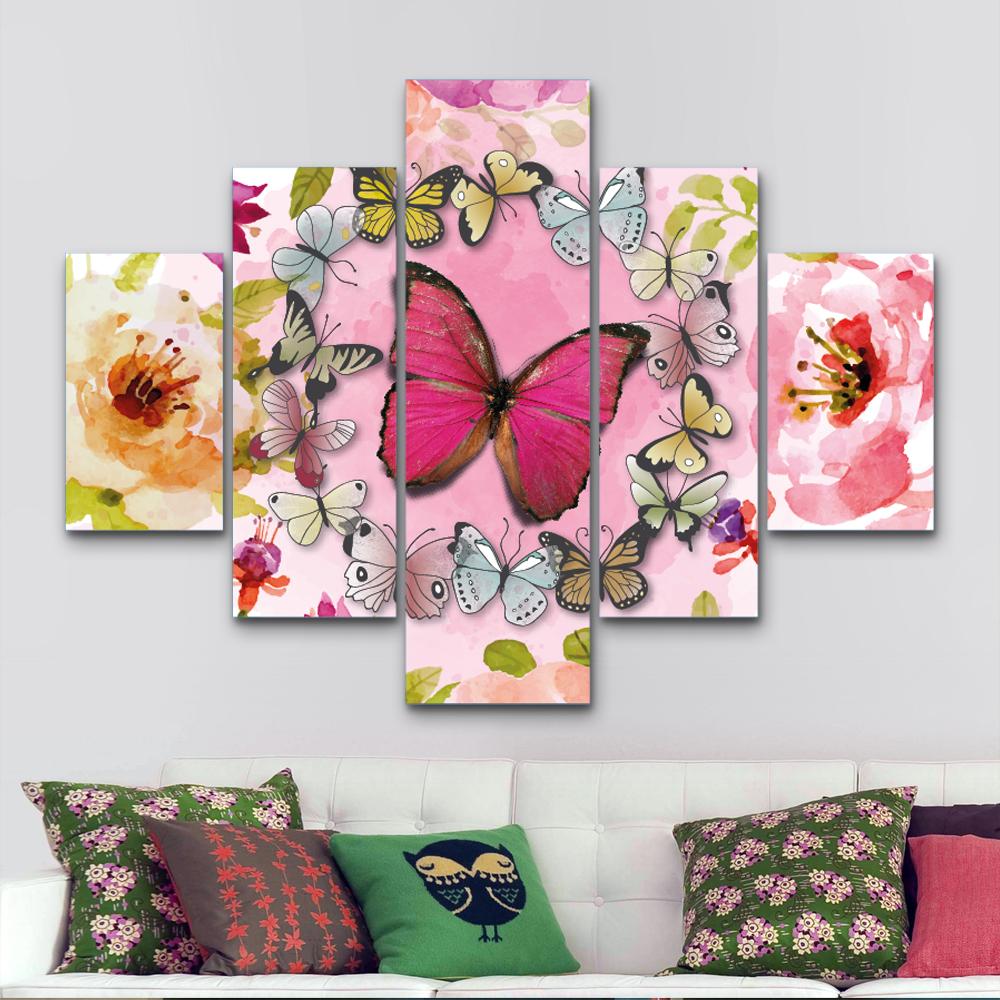 Ronda de mariposas 110 cm x 70 cm cuadros decorativos for Donde puedo comprar cuadros decorativos