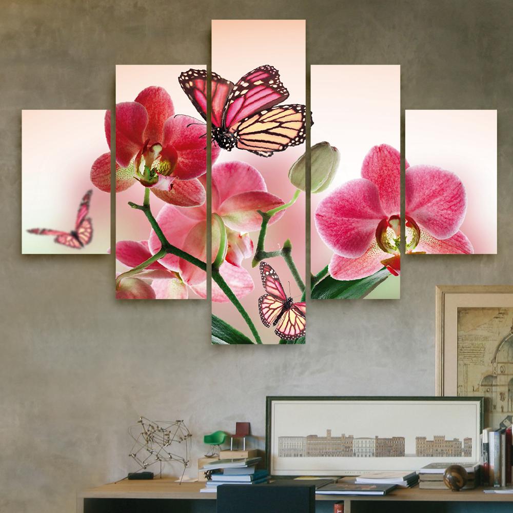 Mariposa en orqu deas 110 cm x 70 cm cuadros decorativos for Donde puedo comprar cuadros decorativos