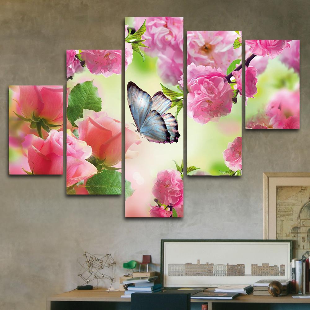 Mariposa en rosal 110 cm x 70 cm cuadros decorativos for Donde puedo comprar cuadros decorativos