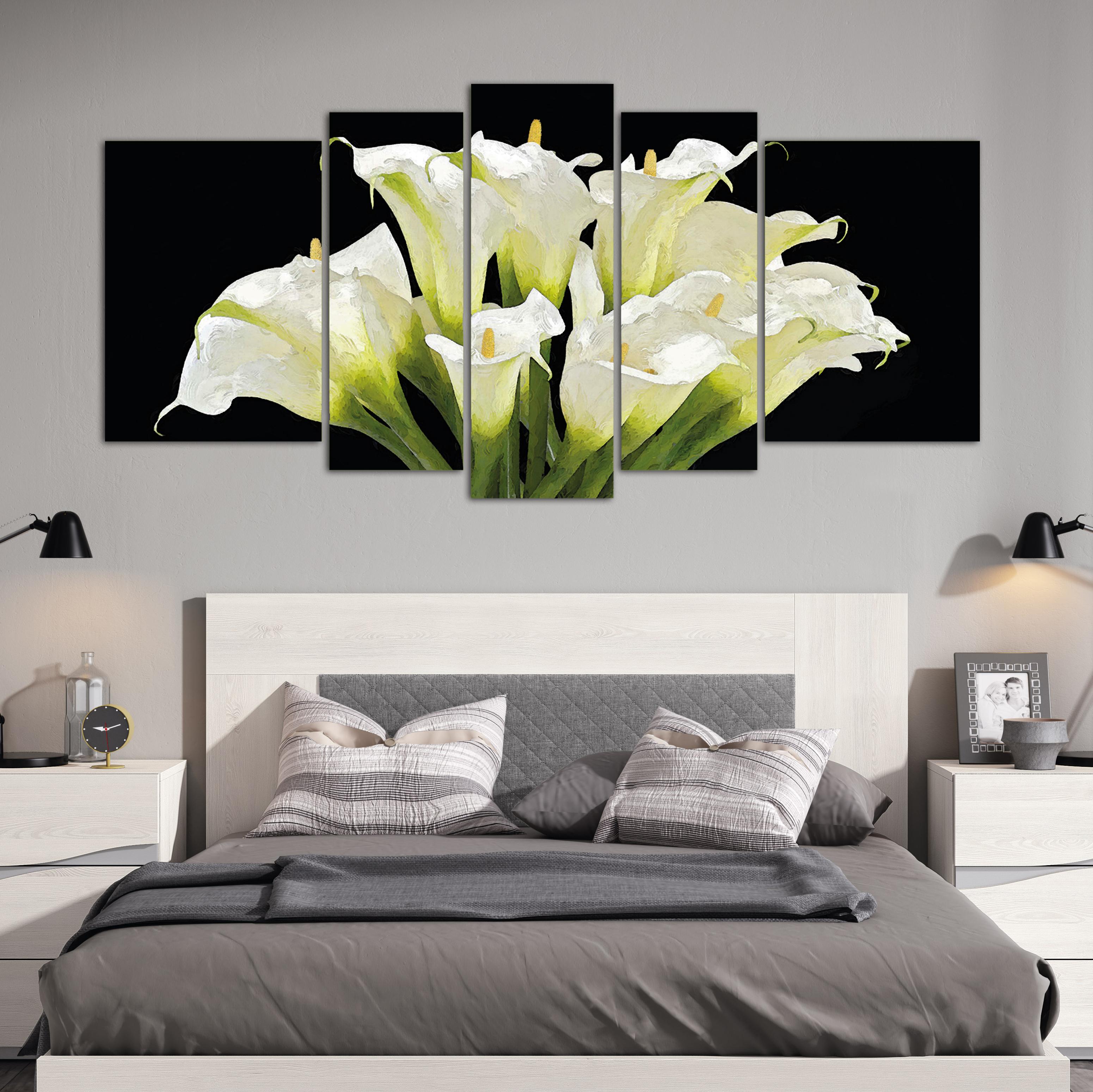 Calas blancas xxl 150 cm x 70 cm cuadros decorativos for Donde puedo comprar cuadros decorativos