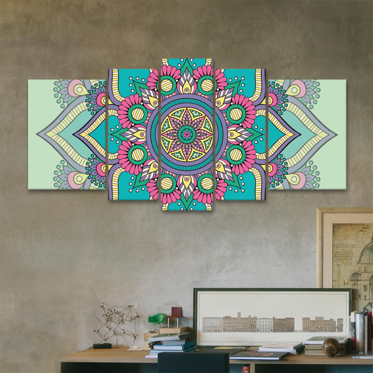 Mandala serenidad xxl 150 cm x 70 cm cuadros decorativos for Donde puedo comprar cuadros decorativos