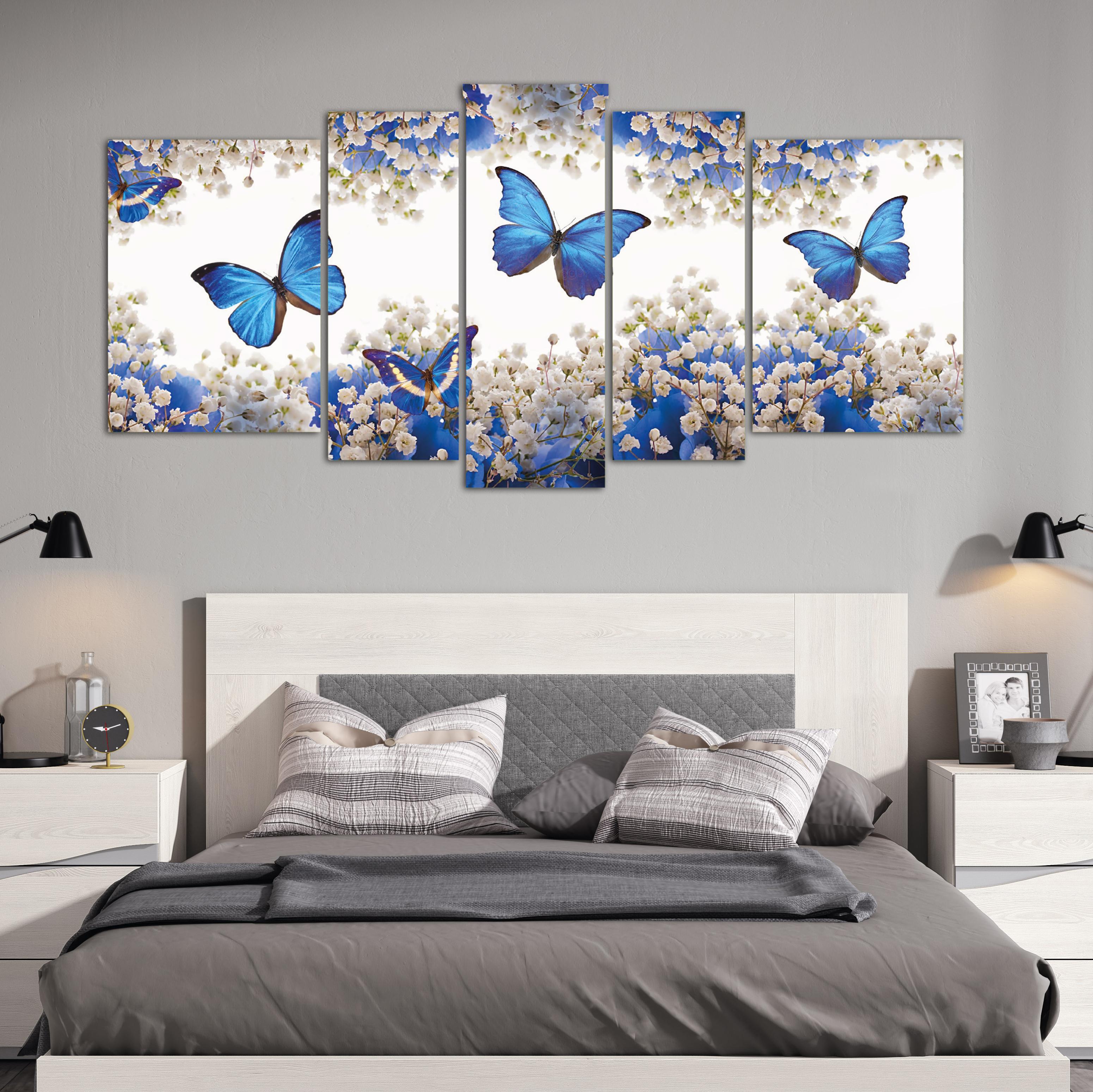 Mariposas azules xxl 150 cm x 70 cm cuadros decorativos for Donde puedo comprar cuadros decorativos