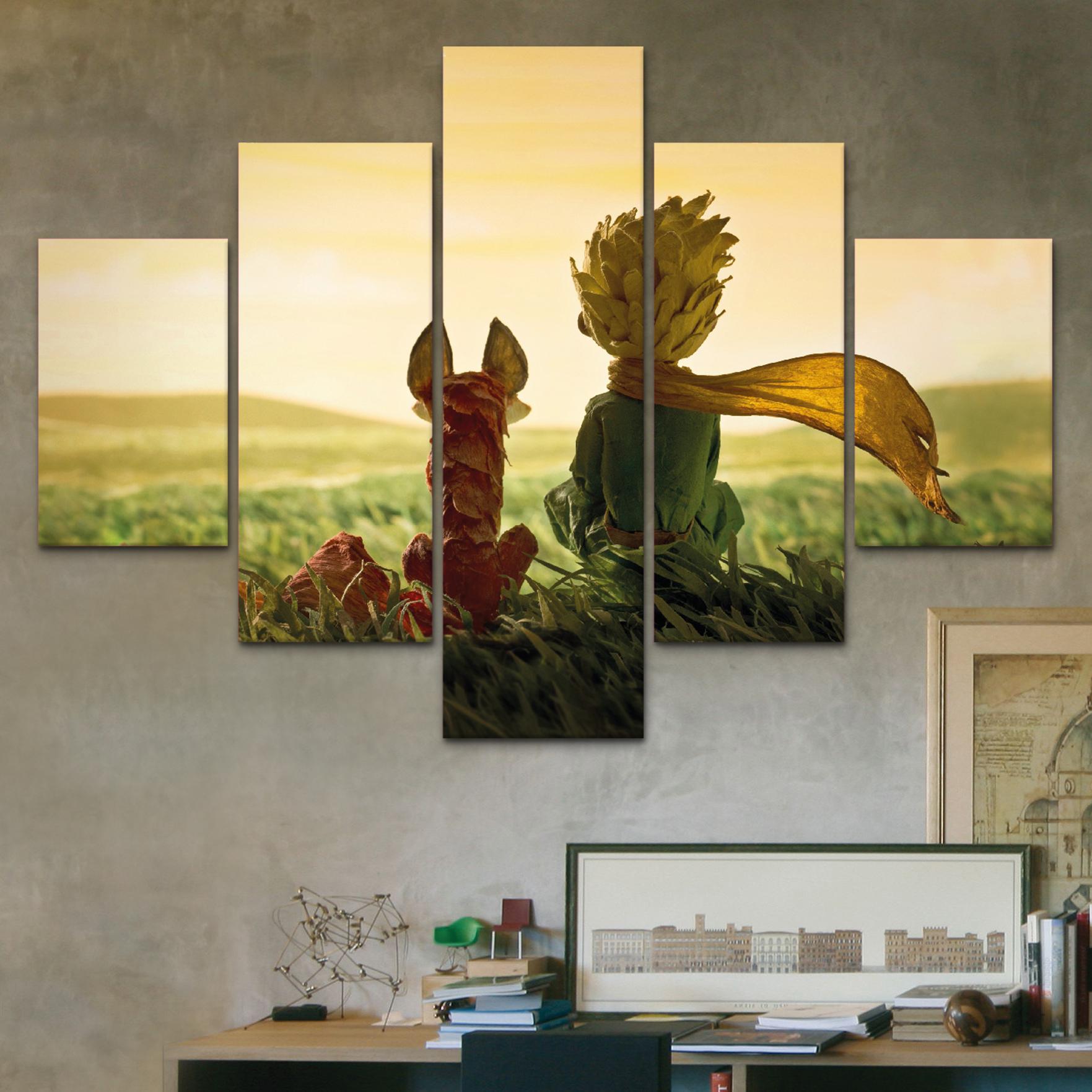 Principito con zorro 110 cm x 70 cm cuadros decorativos for Donde puedo comprar cuadros decorativos