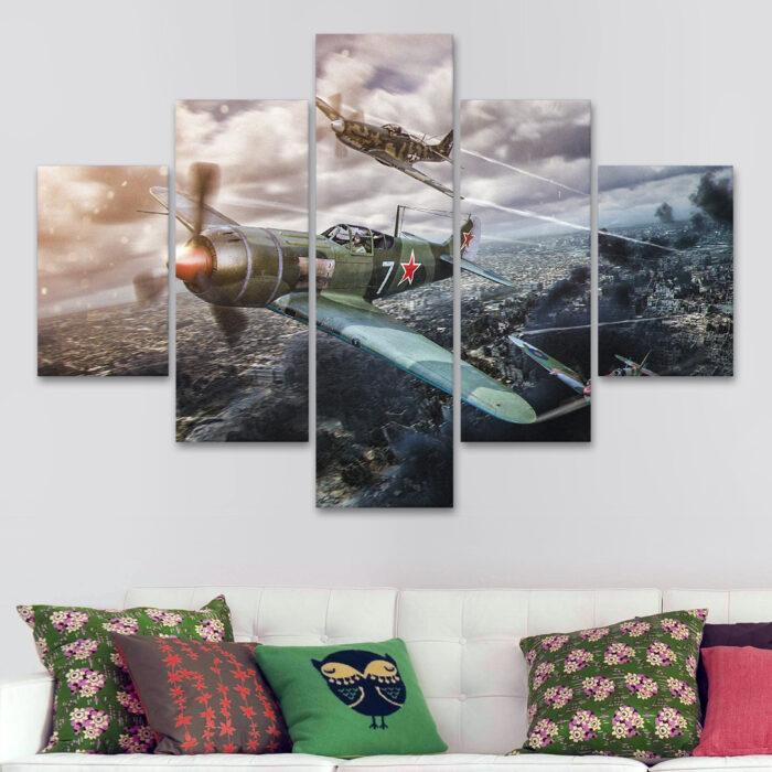 Aviones - Por la Ciudad (110 cm x 70 cm)