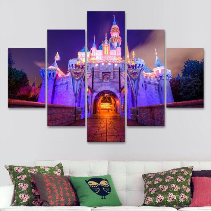 Castillo de Disney de Noche (110 cm x 70 cm)