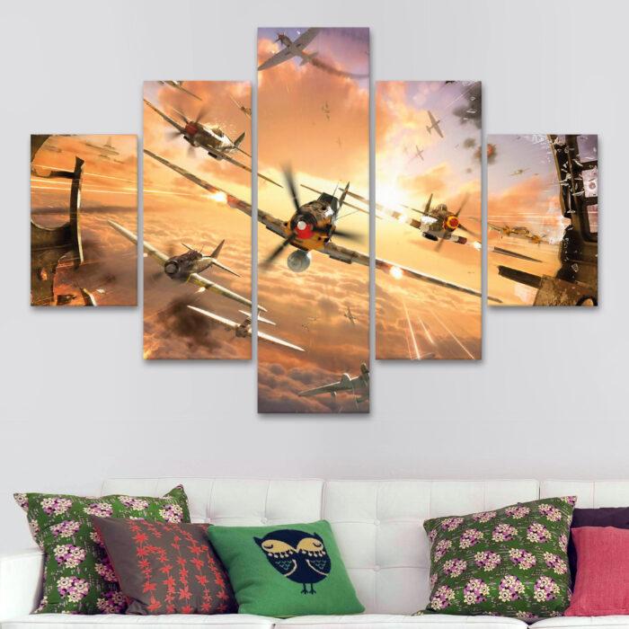 Aviones - Atacando (110 cm x 70 cm)