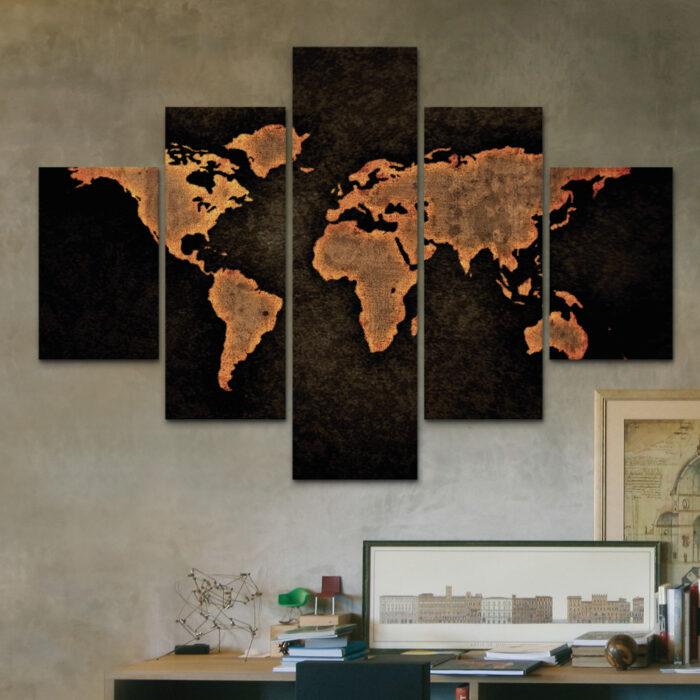 Mapa Rústico -Tierra (110 cm x 70 cm)