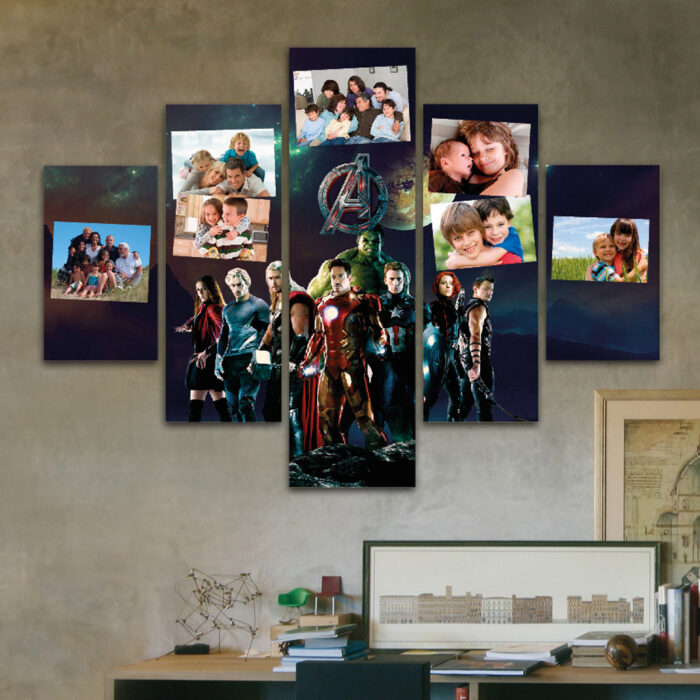 Cuadro Familiar a Pedido - Avengers (110 cm x 70 cm)