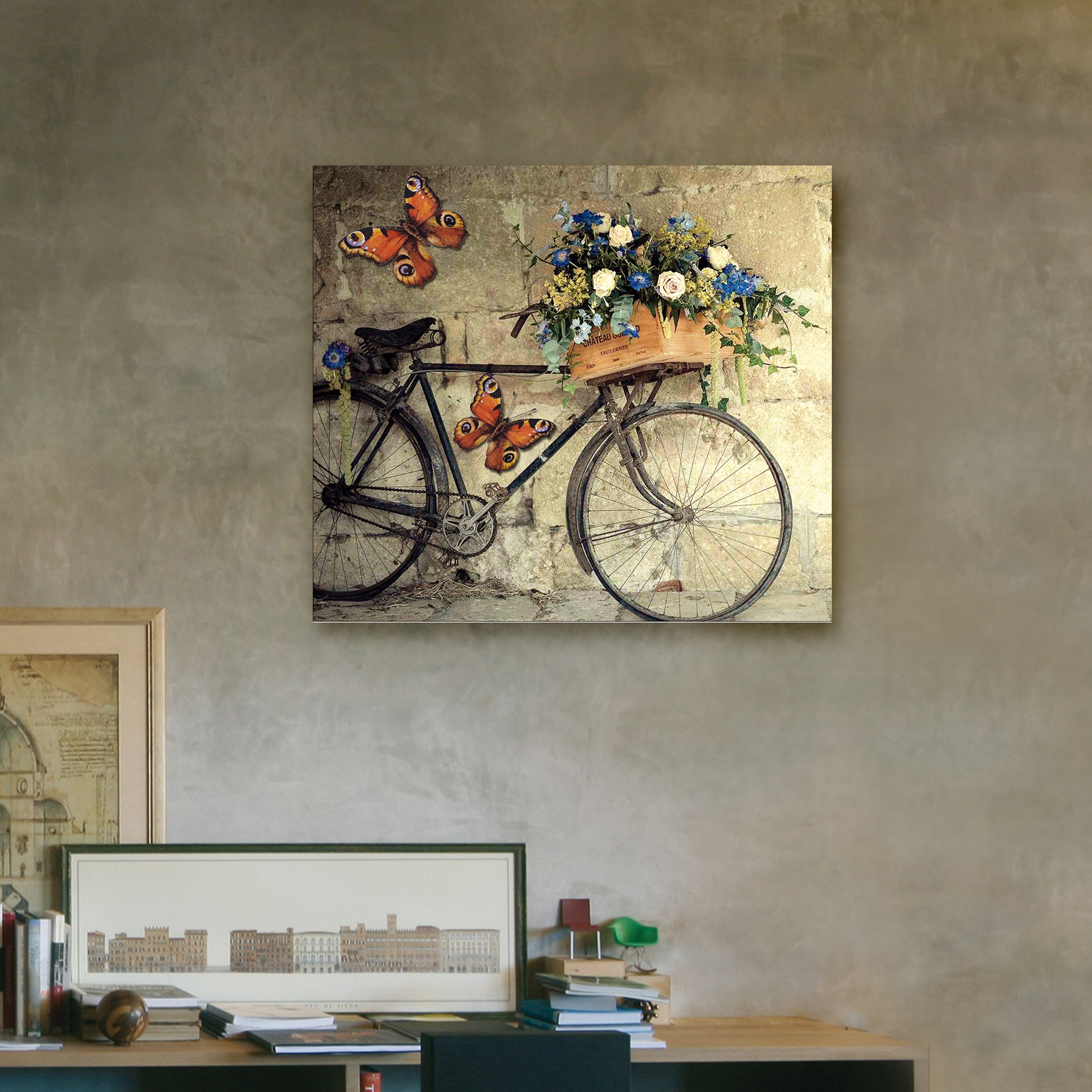 Bicicleta vintage 40cm x 35cm cuadros decorativos for Donde puedo comprar cuadros decorativos