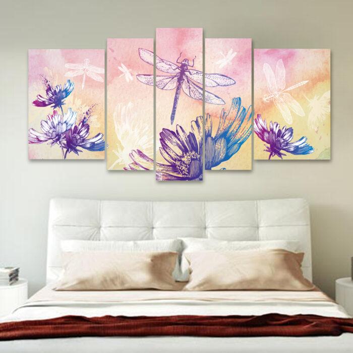 Libélulas en Flor (150 cm x 70 cm)