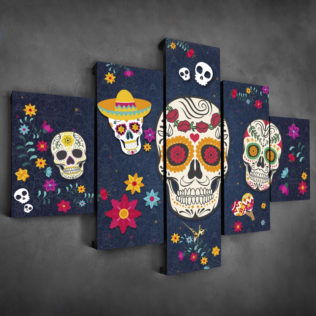 Calaveras mexicanas 110 cm x 70 cm cuadros decorativos for Donde puedo comprar cuadros decorativos