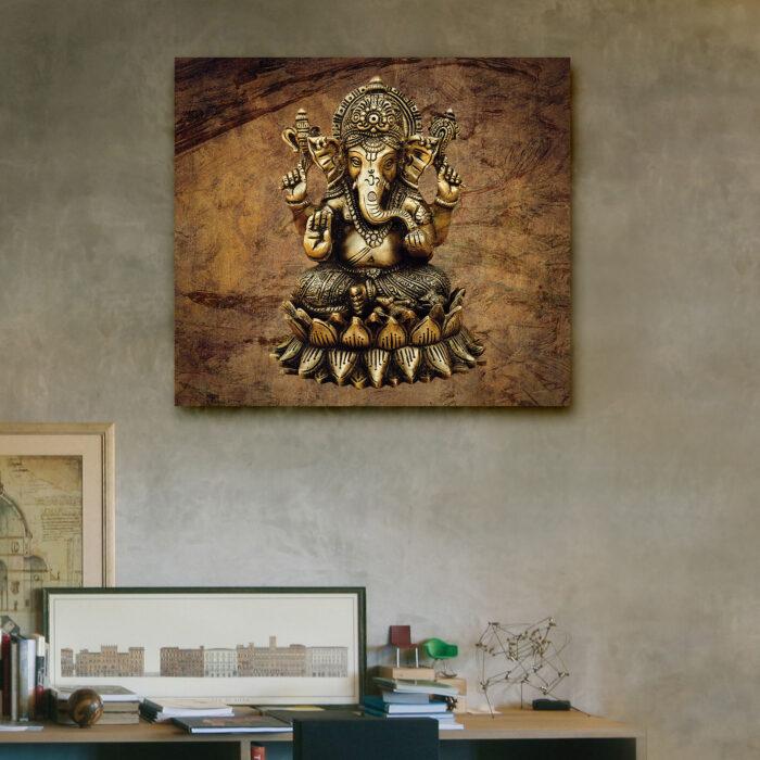 Ganesha Rústica (40cm x 35cm)