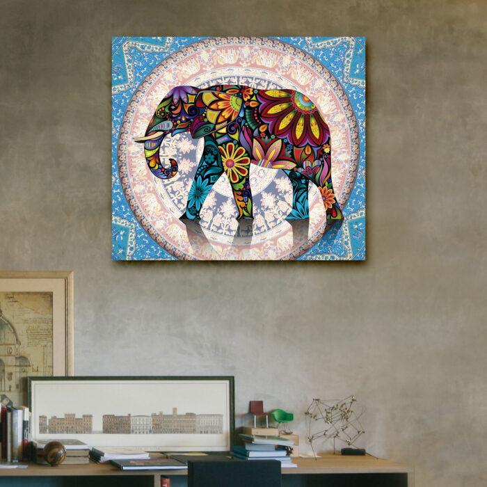 Elefante Mandala (40cm x 35cm)