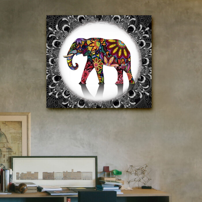 Elefante Mandala Austral (40cm x 35cm)