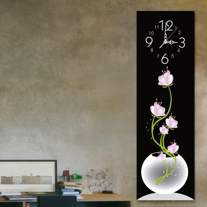 Fuente flores rosa (20cm x 70cm)