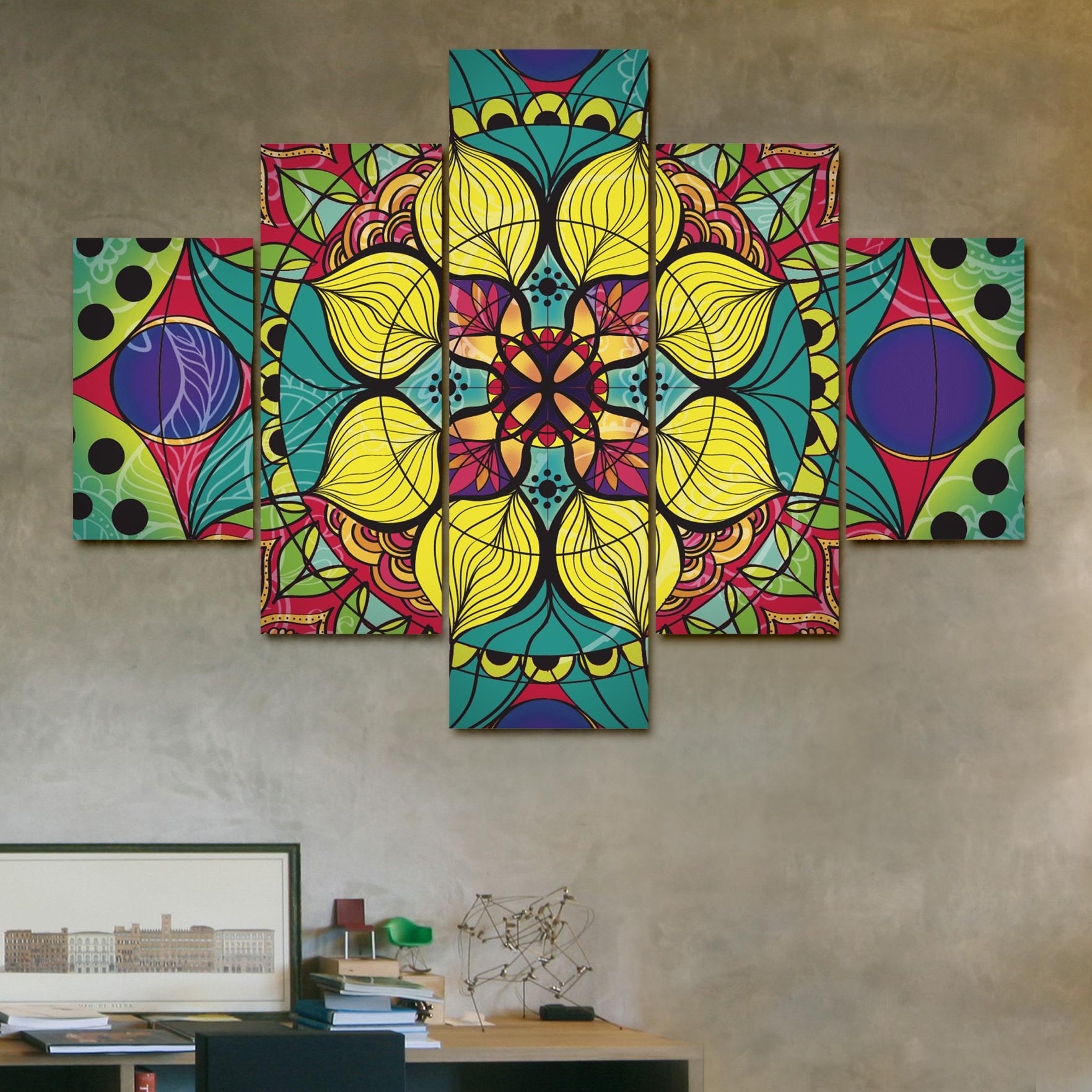 Mandala vitr 110cm x 70cm cuadros decorativos for Donde puedo comprar cuadros decorativos