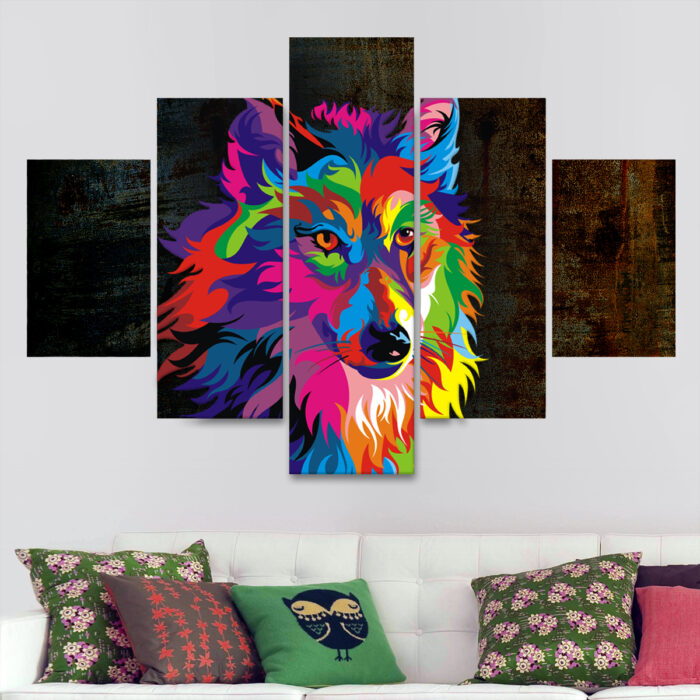 Lobo Colorido (110 cm x 70 cm)