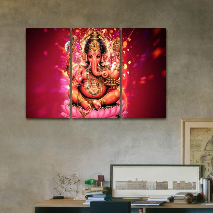 Ganesha Rosa (110 cm x 70 cm)