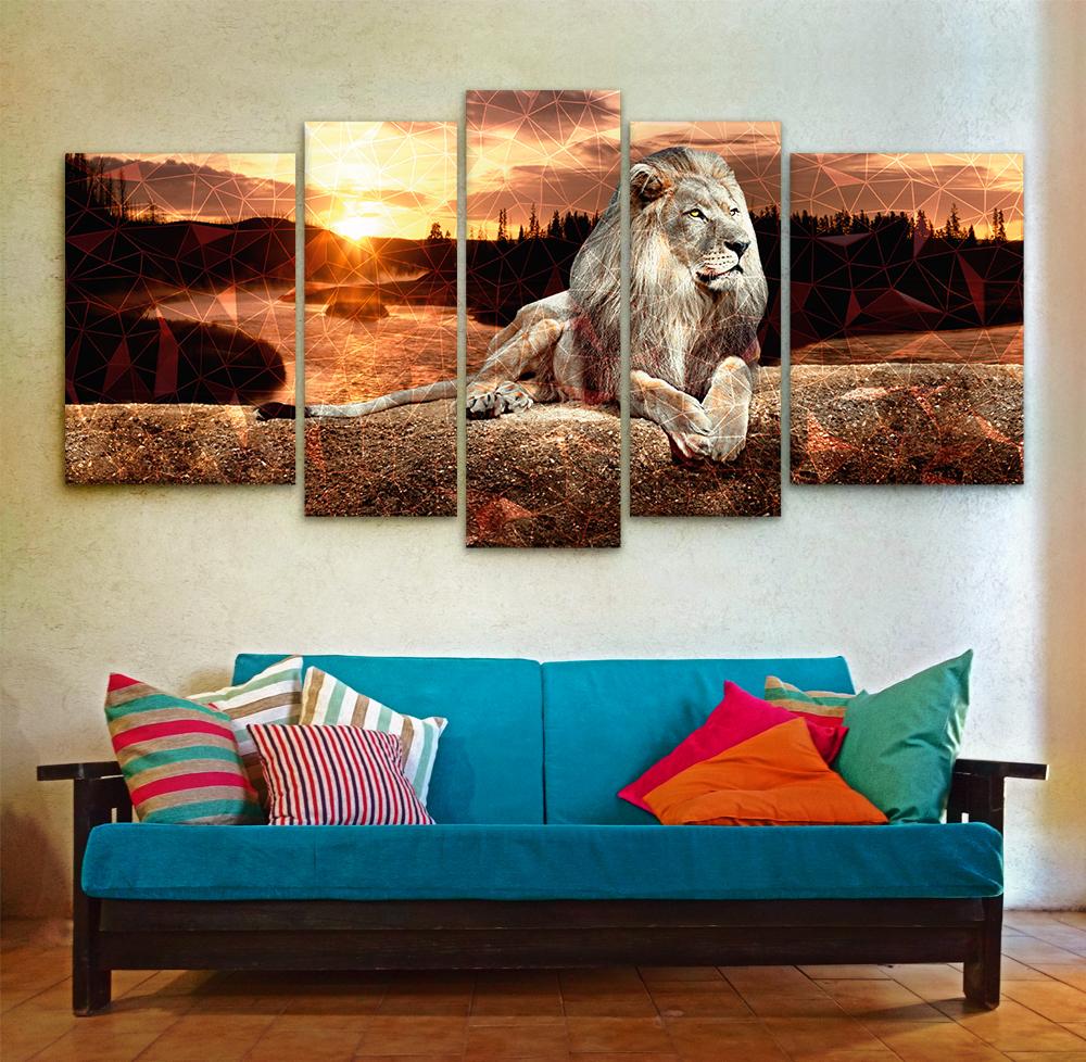 Leon centinela xxl 150 cm x 70 cm cuadros decorativos for Donde puedo comprar cuadros decorativos