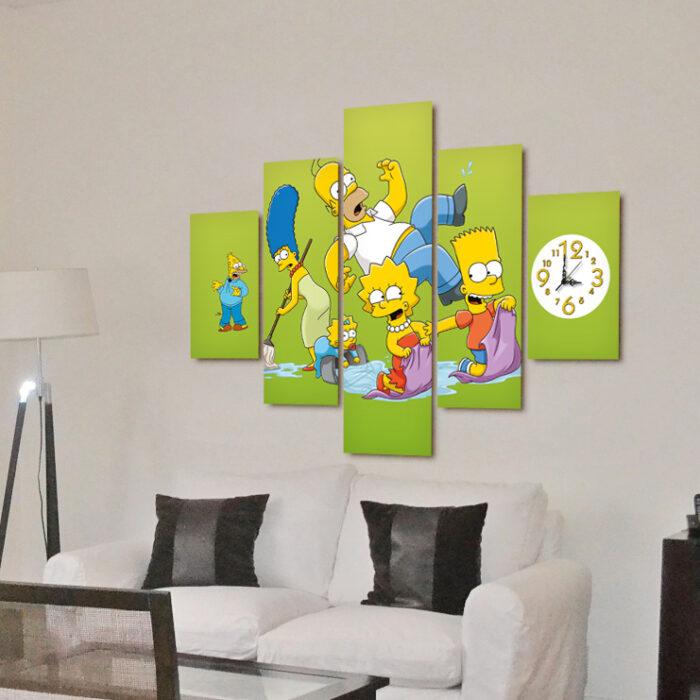 Simpson - Fondo verde (110 cm x 70 cm)