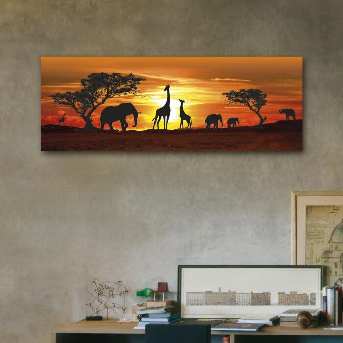 Safari de Jirafas (70 cm x 24 cm)