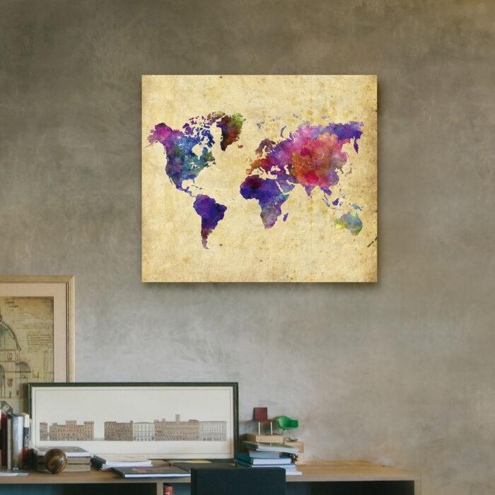 Mapa Colorido (40cm x 35cm)