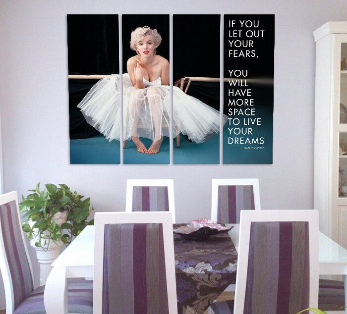 Marilyn Monroe (110cm x 70cm)