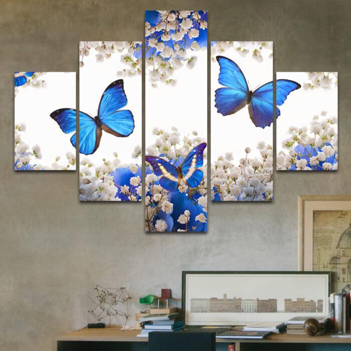Mariposas Azules (110 cm x 70 cm)