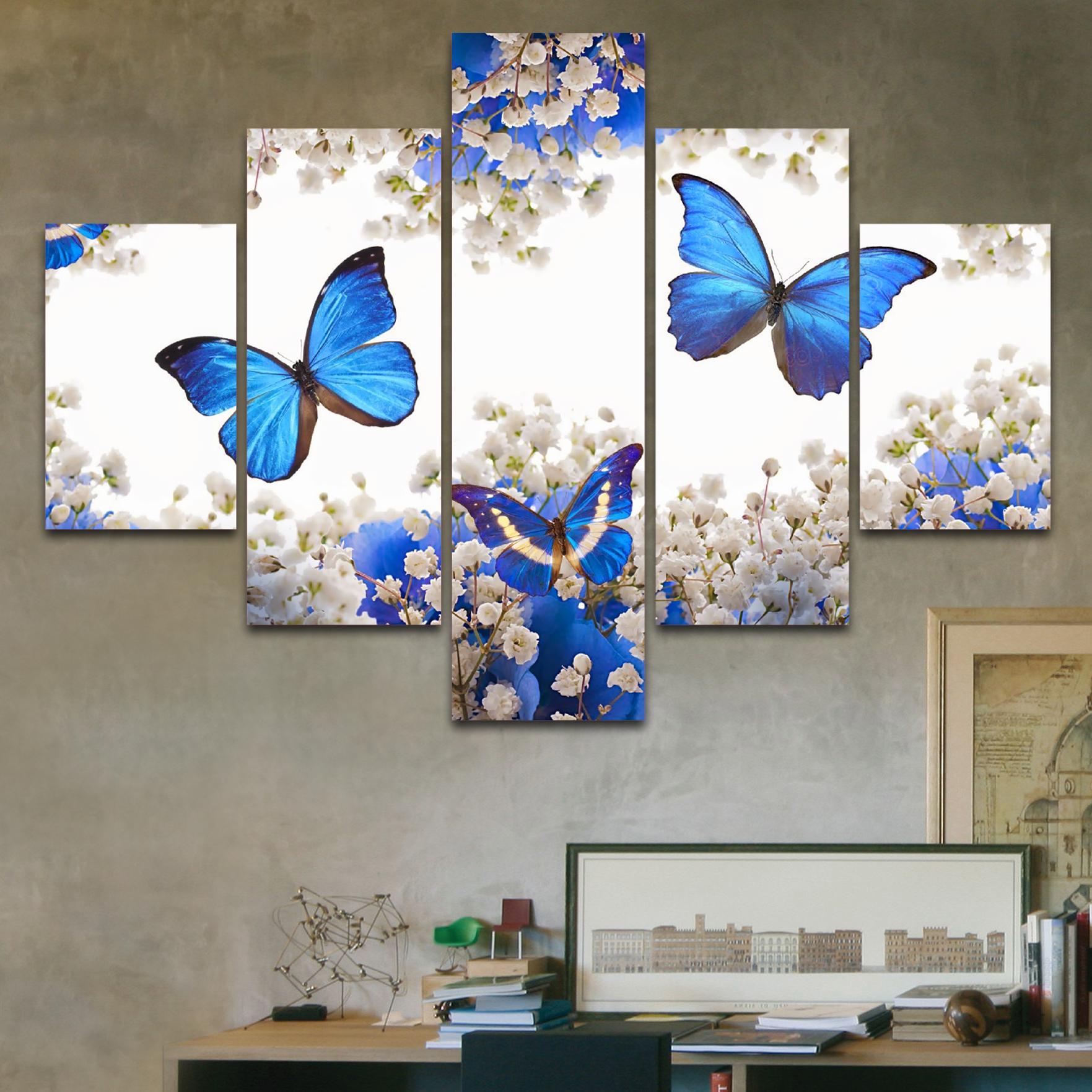 Mariposas azules 110 cm x 70 cm cuadros decorativos for Donde puedo comprar cuadros decorativos