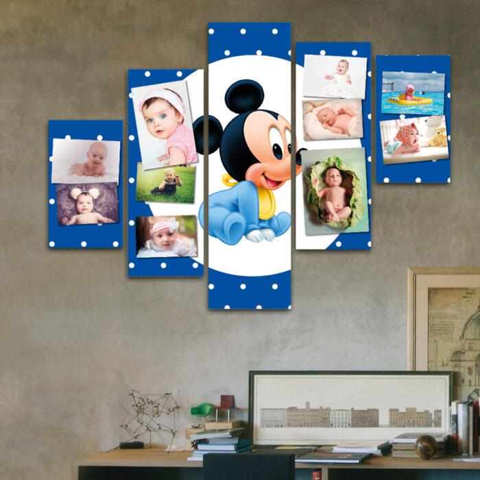 Cuadro Familiar a Pedido - Mickey Bebe (110 cm x 70 cm)