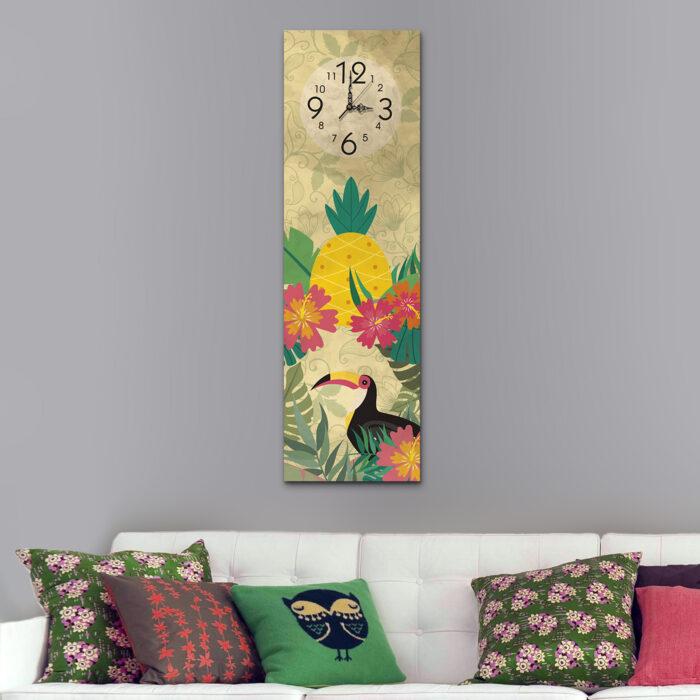 Piña Floral con Tucán (70 cm x 24 cm)