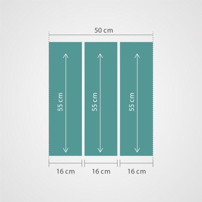 medida de cuadros_Triptico Personalizado