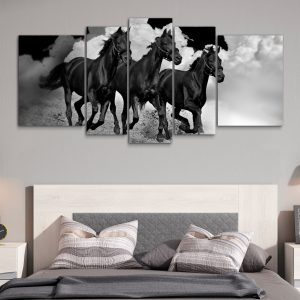 Caballos Negros XXL (150 cm x 70 cm)