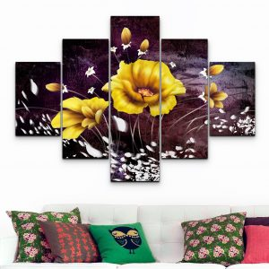 Flores Faustine – Amarillas (110 cm x 70 cm)