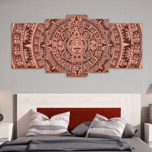 Mandala Maya – Marron XXL (110 cm x 70 cm)