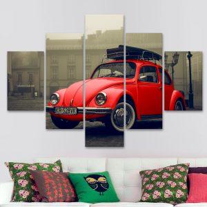 Escarabajo Vintage – Rojo (110 cm x 70 cm)